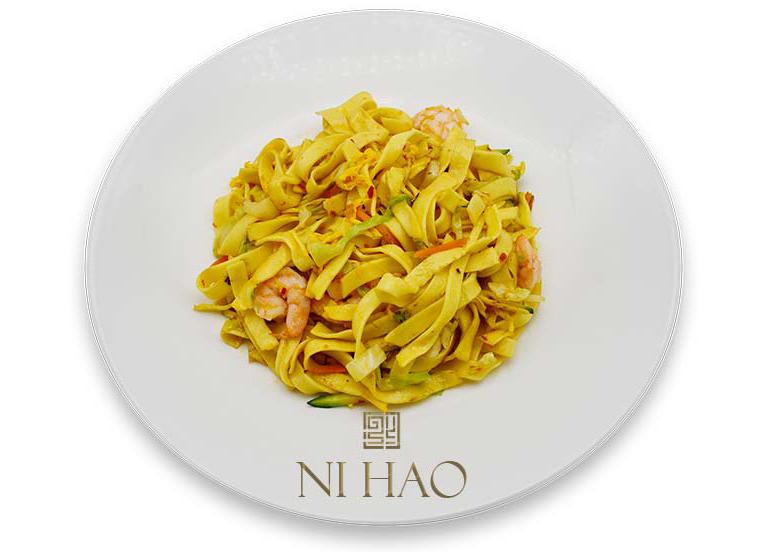 8.Tagliatelle fresche Ni Hao con gamberi