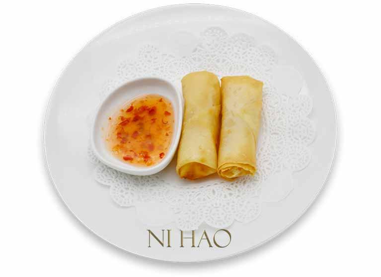 Involtini di gamberi con salsa thai